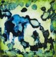"Marla Lombard, ""Glim Realm blue lime"", 2009 /  6x6x2 inches"
